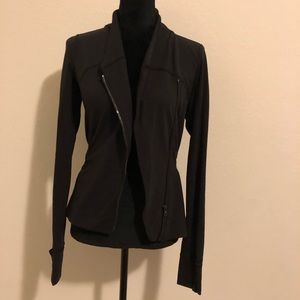 Asymmetrical Zip Lululemon Black Jacket